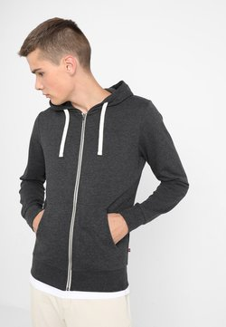 Jack & Jones - JJEHOLMEN - Sweatjacke - dark grey melange