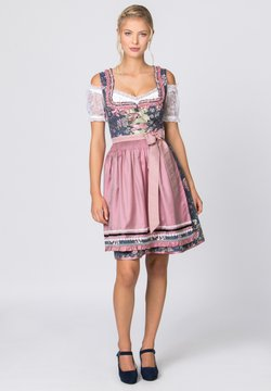Stockerpoint - BRUNA - Dirndl - blau-rose