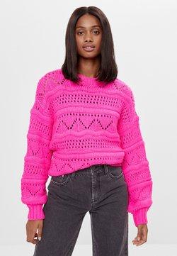 Bershka - Strickpullover - neon pink