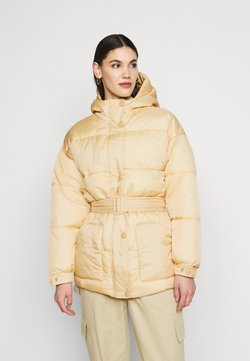 Missguided Tall - SELF BELTED PUFFER - Vinterjacka - sand