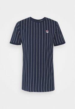 Fila - RINGER TEE - T-Shirt print - black iris