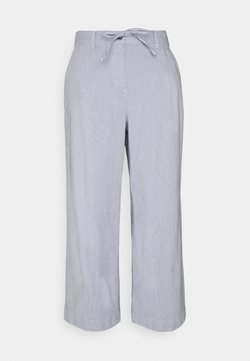 TOM TAILOR - CROPPED PANTS - Stoffhose - thin stripe pants