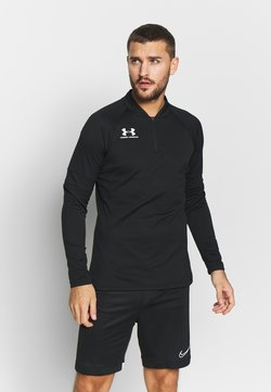 Under Armour - CHALLENGER MIDLAYER - Pitkähihainen paita - black/white