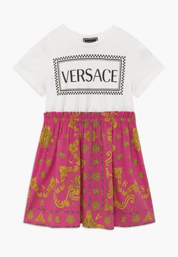 Versace - ABITO - Jerseykleid - fuxia/stampa