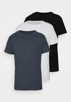 Replay - CREW TEE 3 PACK - T-shirt basic - black/navy melange/white