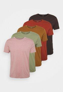 Burton Menswear London - 5 PACK - T-shirt basic - khaki