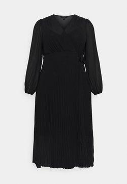 Forever New Curve - PENELOPE PLEATED WRAP DRESS - Vapaa-ajan mekko - black