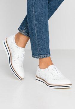 Anna Field - LEATHER LACE-UPS - Sznurowane obuwie sportowe - white