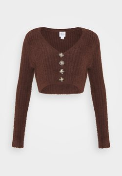 BDG Urban Outfitters - ROCHELLE FLUFFY CARDIGAN - Gilet - chocolate
