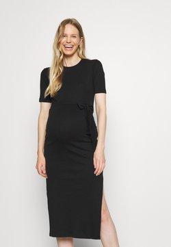 Missguided Maternity - MATERNITY SPLIT SIDE - Vestido ligero - black