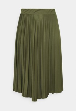 Dorothy Perkins Curve - PLEAT - A-Linien-Rock - khaki