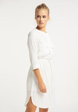 usha - Vestido camisero - weiß