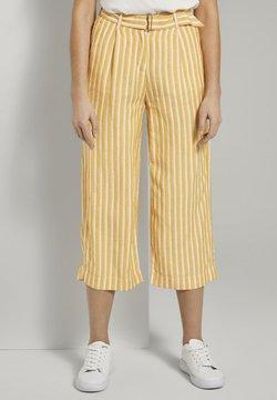 TOM TAILOR - Pantalones - yellow offwhite stripe