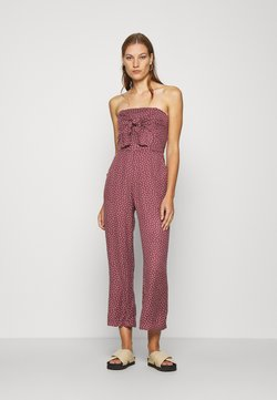 Abercrombie & Fitch - BOW FRONT - Jumpsuit - dark brown