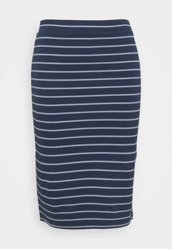 Tommy Jeans Curve - BODYCON STRIPES SKIRT - Bleistiftrock - twilight navy/multi