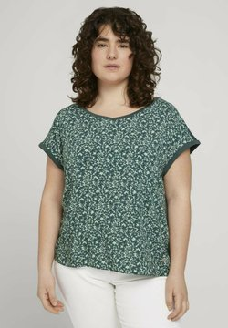 MY TRUE ME TOM TAILOR - Bluse - mint flowers and dots