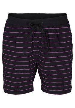 Zizzi - Shorts - black w  purple