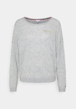 Tommy Hilfiger - OPEN GRAPHIC - Neule - light heather grey