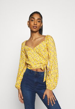 Hollister Co. - Bluse - yellow floral
