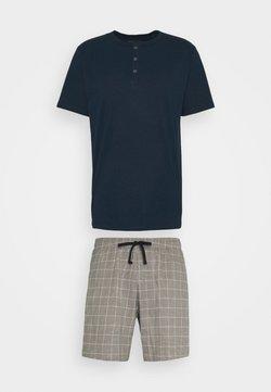 Schiesser - SCHLAFANZUG KURZ SET - Pyjama - nachtblau
