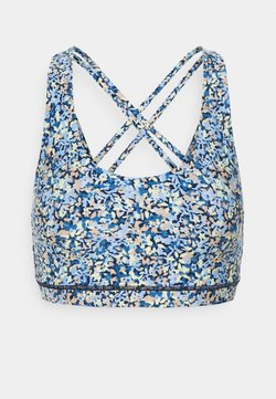 Cotton On Body - STRAPPY SPORTS CROP - Sport BH - ditsy blue