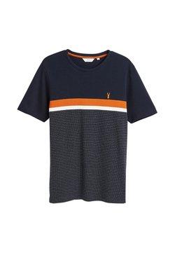 Next - REGULAR FIT  - T-Shirt print - mottled dark blue