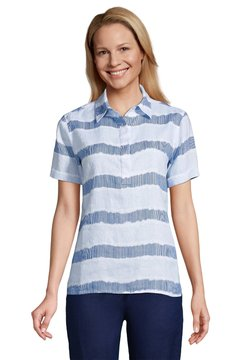 LANDS' END - NORMAL - Poloshirt - blue/white dyed stripe