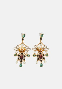 J.CREW - MIA STATEMENT EARRINGS - Ohrringe - gold-coloured/alhambra green
