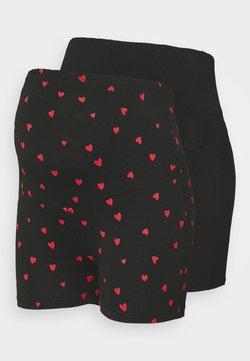 Anna Field MAMA - Shorts - black/multi-coloured