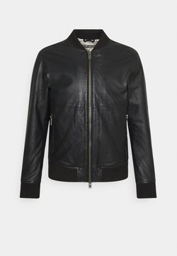 Selected Homme - SLHICONIC - Leather jacket - black