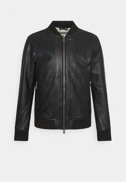 Selected Homme - SLHICONIC - Veste en cuir - black