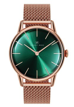 August Berg - UHR SERENITY GREENHILL MESH 32MM - Montre - sunray green