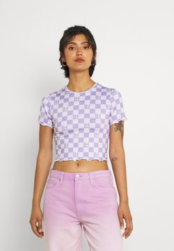 Local Heroes - VICHY CHECK - T-shirt con stampa - lavender