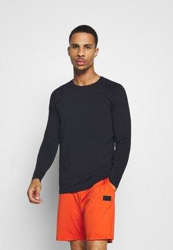 Casall - STRUCTURED LONGSLEEVE - Bluzka z długim rękawem - black