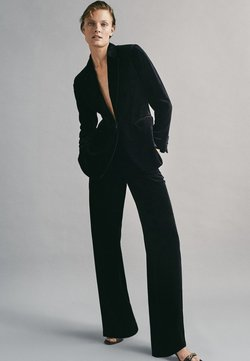 Massimo Dutti - Stoffhose - black