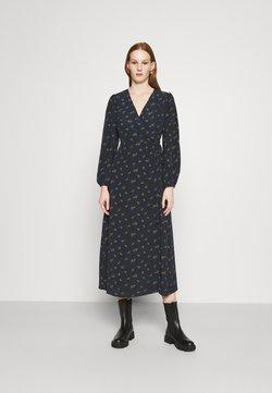 Glamorous - LONG SLEEVE WRAP DRESS WITH V NECK - Maxikjoler - olive rose