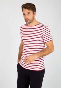 Armor lux - HOËDIC MARINIÈRE - T-Shirt print - blanc braise