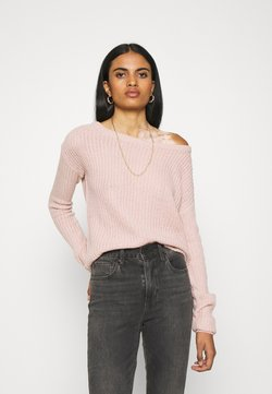 Missguided - OPHELITA OFF SHOULDER JUMPER - Jersey de punto - rose