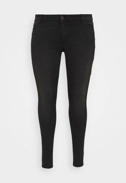 Pieces Curve - PCNEW - Jeans Skinny Fit - black denim