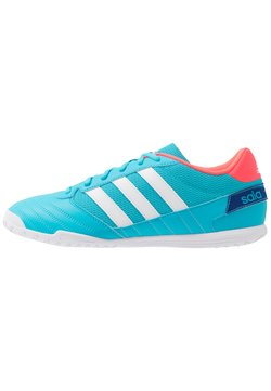 adidas Performance - SUPER SALA FOOTBALL SHOES INDOOR - Fußballschuh Halle - signal cyan/footwear white/signal pink