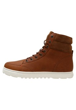 HUB - DUBLIN MERLINS - Sneakers hoog - cognac/off white