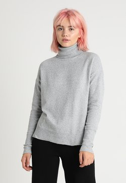 Vero Moda - VMBRILLIANT ROLLNECK - Strickpullover - light grey melange