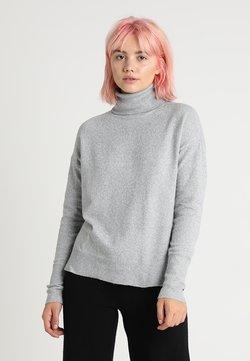 Vero Moda - VMBRILLIANT ROLLNECK - Strickpullover - light grey melange