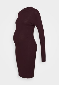 Anna Field MAMA - KNIT DRESS maternity - Etuikleid - syrah