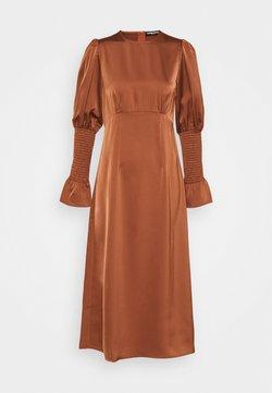 Fashion Union - BLOOM DRESS - Vestido largo - burnt brick