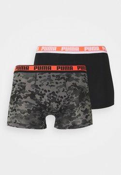 Puma - MEN CAMO BOXER 2 PACK - Panties - black/grey melange