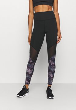South Beach - ANIMAL - Tights - black/blue