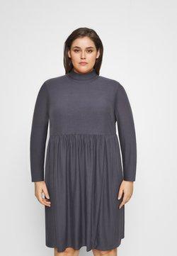 Simply Be - SOFT TOUCH HIGHNECK SMOCK DRESS - Trikoomekko - dark grey