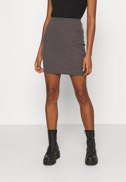 Even&Odd - Basic mini ribbed skirt - Gonna a tubino - mottled dark grey