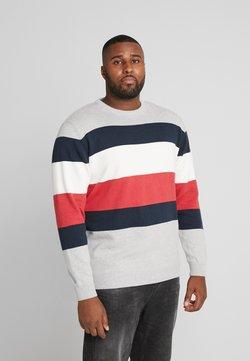 Jack´s Sportswear - STRIPED ONECK - Pullover - grey melange